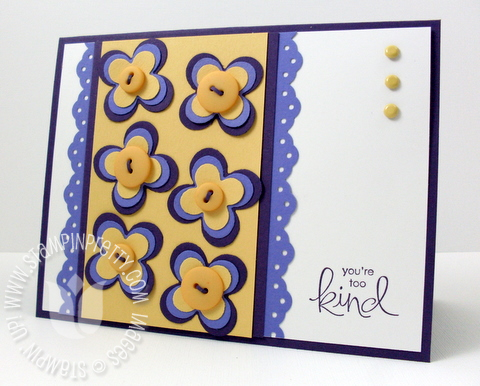 Stampin up whimsical words floral fusion