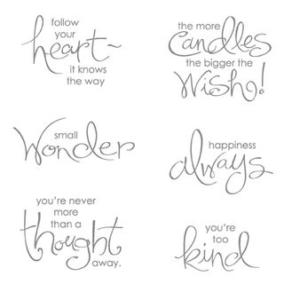Whimsical words stampin pretty