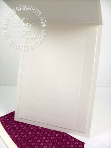 Stampin up rich razzleberry embossed envelope