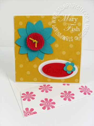 Stampin up picture this hostess card