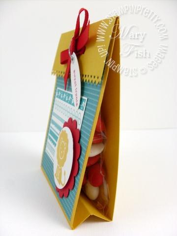 Stampin up treat bag holder m & ms