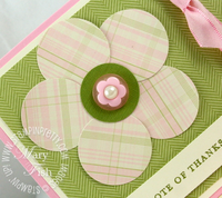 Stampin up pawsitively prints flower