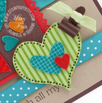 Stampin up i heart hearts solid stripes