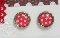 Stampin up real red epoxy brads