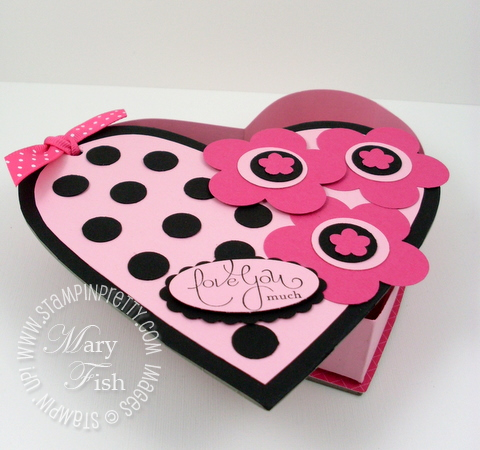 Stampin up on board heart box