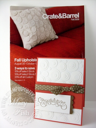 Stampin up well scripted pillow inspiration