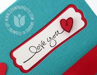 Stampin up warm words valentine