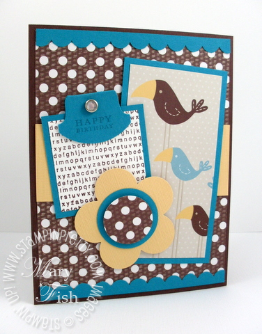 Stampin up sweet pea designer paper mojo monday