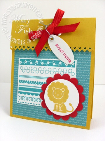 Stampin up beate treat bag cover