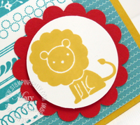 Stampin up fox & friends lion