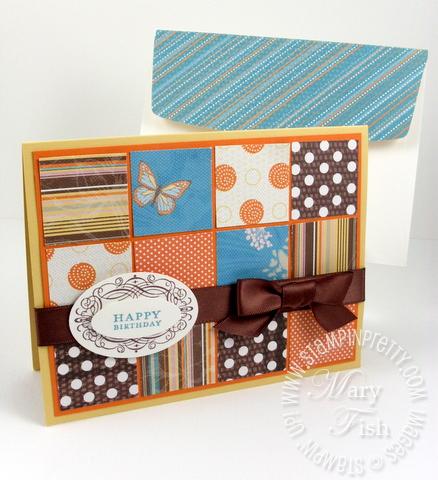 Stampin up sweet pea vintage labels quilt card