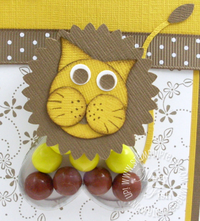 Stampin up sweet treat lion close up