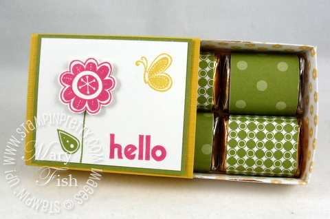 Stampin up hello again nugget box open