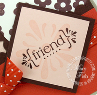 Stampin up mojo monday with all my heart close up