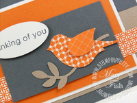 Stampin up pals paper arts 34 bird punch close up
