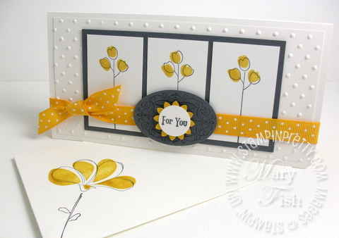 Stampin up awash with flowers summer mini