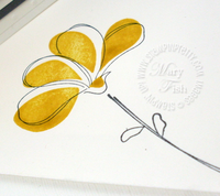Stampin up awash with flowers envelope