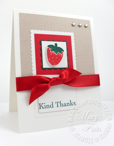 Stampin up saleabration tart and tangy