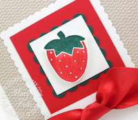 Stampin up saleabration tart and tangy strawberry
