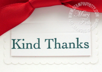 Stampin up saleabration thank you kindly