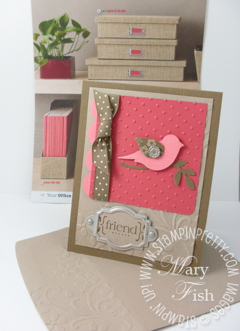 Stampin pretty with all my heart bird punch