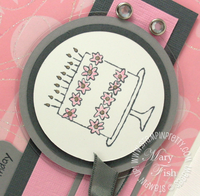 Stampin up mojo monday birthday cake