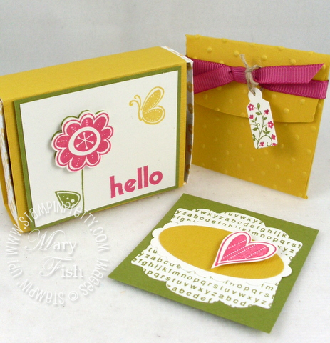 Stampin up hello again bitty envelope
