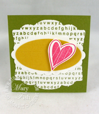 Stampin up a to z stamp hello again