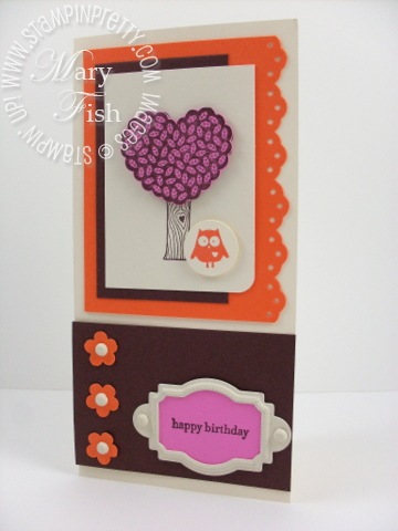 Stampin up love bandit birthday card