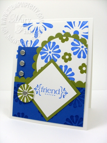 Stampin up mojo monday with all my heart brilliant blue