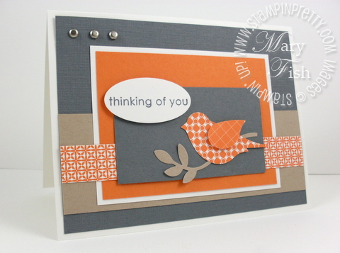 Stampin up pals paper arts sketch bird punch
