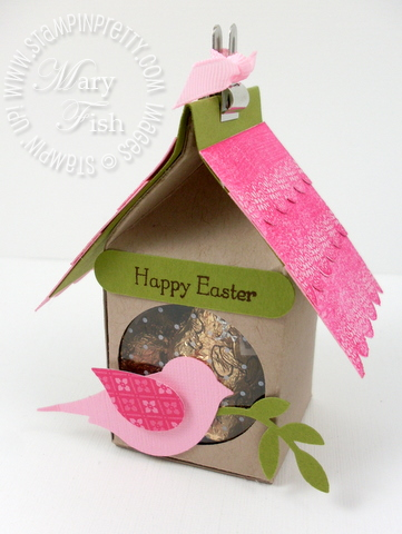 Stampin up milk carton birdhouse easter