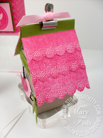 Stampin up eggcoutrements milk carton birdhouse