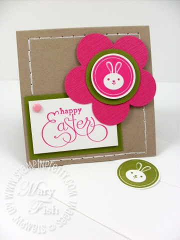 Stampin up extra large fancy flower punch easter card