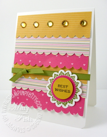 Stampin pretty saleabration welcome neighbor designer paper