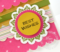 Stampin up saleabration vintage labels best wishes