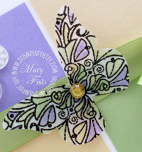 Stampin up fine flourish butterfly closeup
