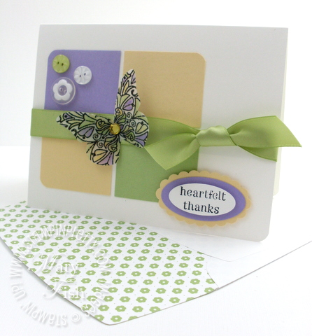 Stampin up fine flourish butterfly