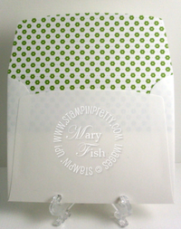 Stampin up lined envelope