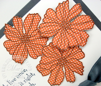Stampin up fifth avenue floral closeup