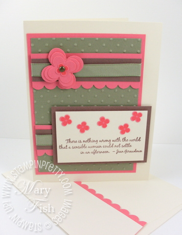Stampin up mojo monday favorite thoughts