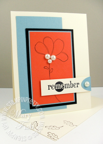 Stampin up awash with flowers in a word