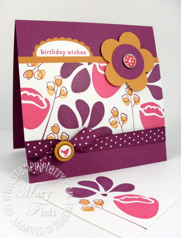 Stampin up mojo monday 136 awash with flowers