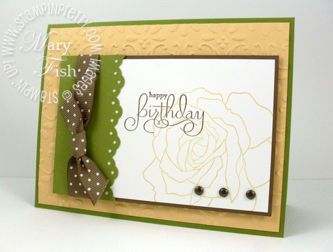 Stampin up fifth avenue floral so saffron