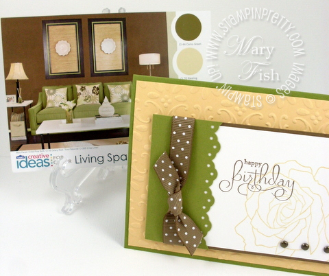 Stampin up fifth avenue floral lowes paint sample