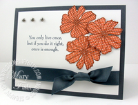 Stampin up fifth avenue floral card
