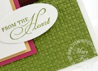 Stampin up square lattice textured impressions embossing folder
