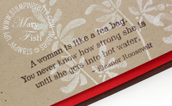 Stampin up favorite thoughts eleanor roosevelt