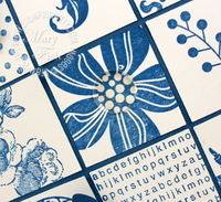 Stampin up eastern blooms close-up