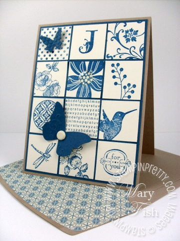 Stampin up elements of style summer mini collage